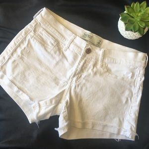 Abercrombie & Fitch White Low Rise Denim Shorts 2